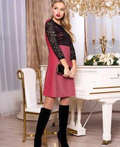 """Платье """"А-71"""" (розовый)"""