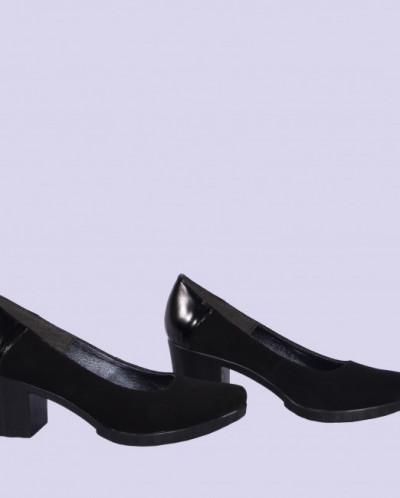 Женские замшевые туфли на каблуках