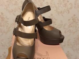 Туфли женские кожа натуральная, цвет кофейный. НОВЫЕ!