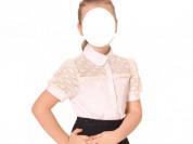 Блузка белая для девочки