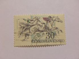 Марка 30h Чехословакия