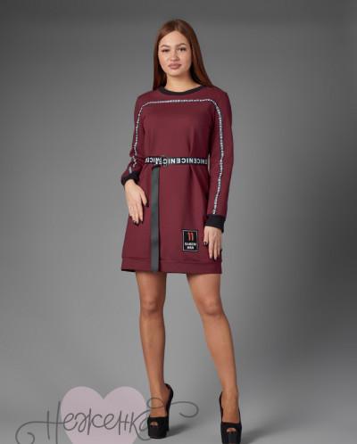 Платье П 767 (бордовый)