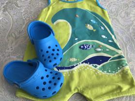 Детский купальный костюм DPam, (р 80/86) + Crocs