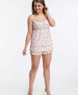 Пижама с шортами Памела (3450). Расцветка: мышки