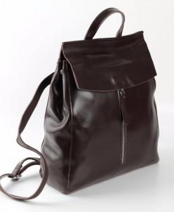 Женский кожаный рюкзак 1724 Кофе