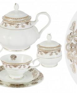 Чайный сервиз Версаче Золотой 40 предметов на 12 персон