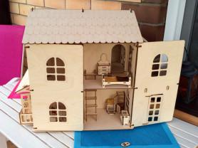 Игровой дом из дерева для двух и более детей