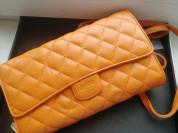 Сумка клатч оранжевая