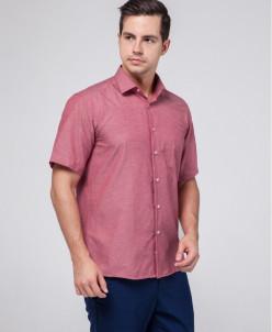 Красная брендовая мужская рубашка Rotelli