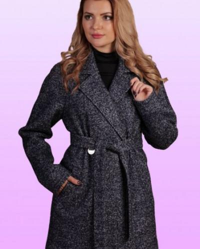 Пальто Gipnoz цвет темносиний меланж!!!