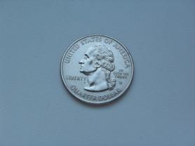 Монета 25 Центов 1999 год D Georgia США