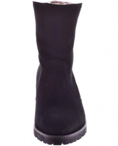 Женские замшевые ботинки-трансформеры (экомех/цигейка)
