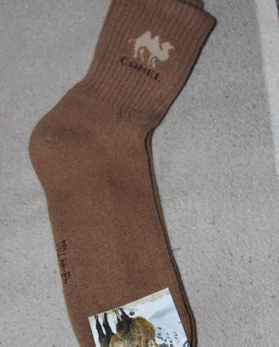 Носки из шерсти верблюда- рыжий, Монголия