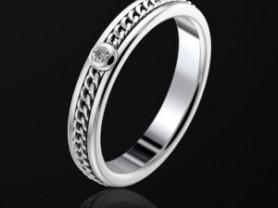 Кольцо Piaget из белого золота с бриллиантом