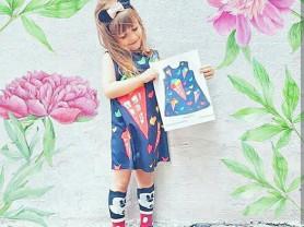 Платье с рисунком вашего ребенка