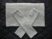 Комплект HM шарф снуд и удлиненные перчатки
