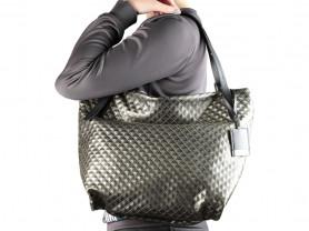 Новая большая кожаная сумка Италия бронза
