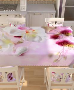 Фотоскатерть Цветы эдема 145*200 Габардин