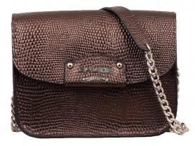 Новая сумка кроссбоди кожи Италия темная бронза