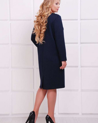 Платье с заниженной талией ДАЯНА темно-синее