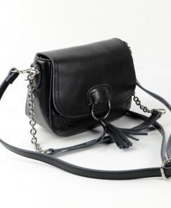 Женская кожаная сумка 10596 Черный
