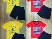 Два новых комплекта футболка+Шорты р. 122-128