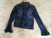 Джинсовая куртка темно синяя размер 42