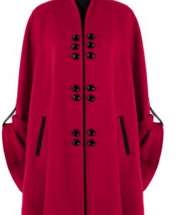 01-4103 Пальто женское демисезонное Кашемир Красный