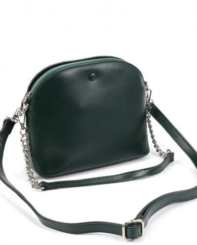 Женская кожаная сумка 1354 Грин