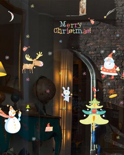 Интерьерная многоразовая наклейка «Сказочное Рождество»