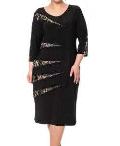 Нарядное черное платье 416651