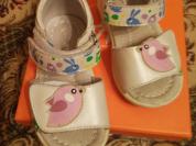 Сандалики для девочки ясельного возраста