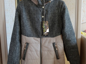 Новое утепленное осеннее пальто 164 (40-42)