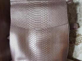 Новый кожаный женский  рюкзак розаголд