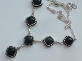 ожерелье серебро 925* с ониксом