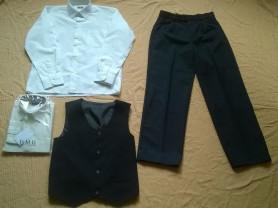 Школьная форма Нов. рубашка+брюки+жилет 140р