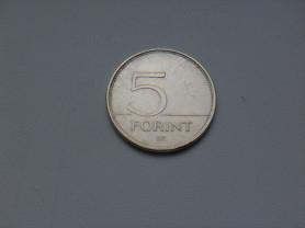 Монета 5 Форинтов 1993 год Венгрия