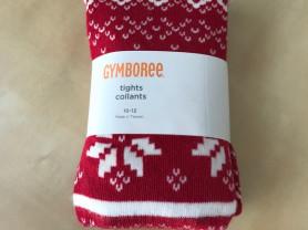 Красные новогодние колготки gymboree 3-4 г