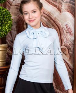 Трикотажная блузка М*ишель Д голубая