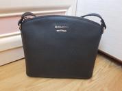 Новая черная сумка из сафьяновой кожи Италия