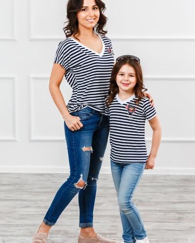 """Комплект футболок family Look для всей семьи """"Матроски"""""""