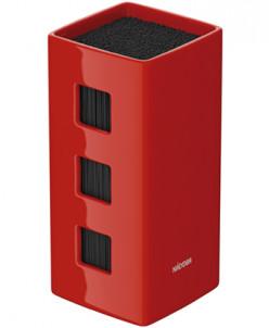 Универсальный керамический блок для ножей, красный, NADOBA,