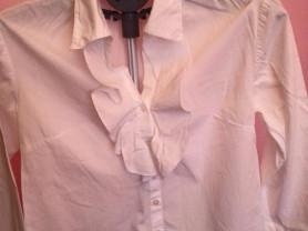 Рубашка рюши белая хлопок