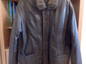 Куртка кожаная мужская осенне-зимняя новая, р-р 58