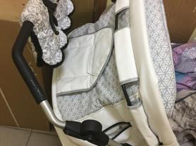 Коляска для двойни или погодок hartan zx цвет 209 белая кожа плюс сумка для мамы