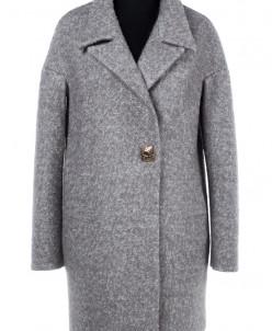 01-7166 Пальто женское демисезонное Букле Светло-серый