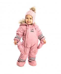Комбинезон детский для девочки  в комплекте варежки+пинетки