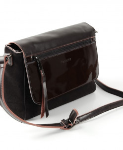 Женская кожаная сумка G-QM1006 Кофе