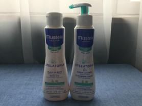 Mustela stelatopia масло и крем для мытья пристрой