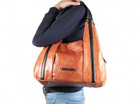 Новая большая кожаная черная сумка Gaude